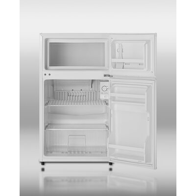 "Summit Appliance 32"" x 18.75"" Refrigerator Freezer with Crisper Cover Glass Type in White"