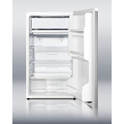 "Summit Appliance 33.5"" x 18.75"" Refrigerator Freezer with Crisper Cover Glass Type"