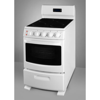 Electric Range in White