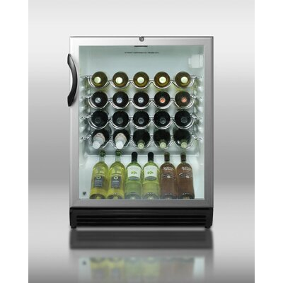"Summit Appliance 32.25"" x 23.63"" Wine Cellar with Black Cabinet"