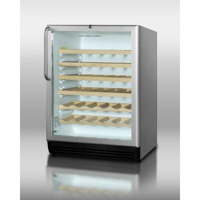 Summit Appliance Wine Cellar with Automatic Defrost in Stainless Steel