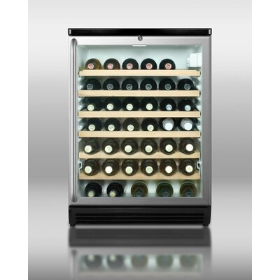 Summit Appliance Wine Cellar with Full Length Towel Bar Handle in Black