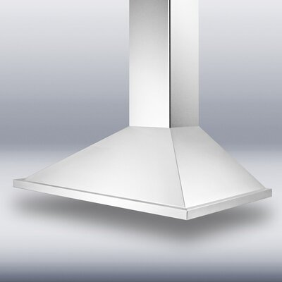 "Summit Appliance 36"" 500 CFM  European Style Wall Mount Range Hood"