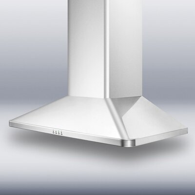 "Summit Appliance 30"" 650 CFM European Style Wall Mount Range Hood"