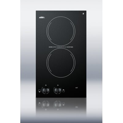 Summit Appliance Two Burner Electric Cooktop in Black