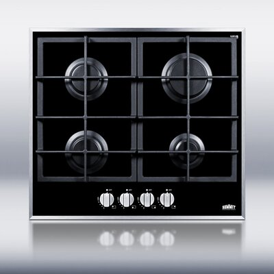 Summit Appliance 4-Burner Gas-on-Glass Cooktop