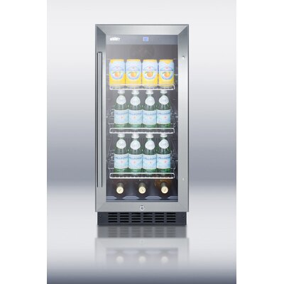 "Summit Appliance 15"" Wide Glass Door Beverage Cooler"