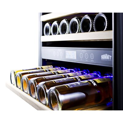 Summit Appliance 157 Bottle Dual Zone Wine Cellar