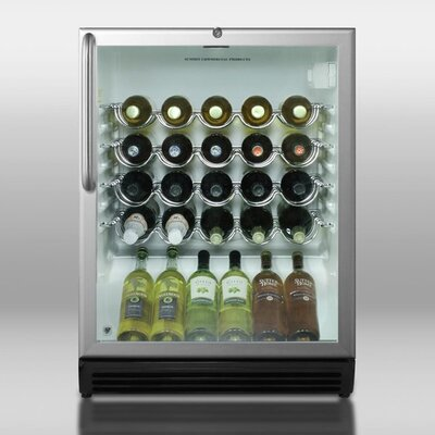 Wine Cellar with Stainless Steel Cabinet