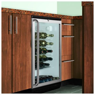 Summit Appliance Wine Cellar with Factory Installed Lock in Black