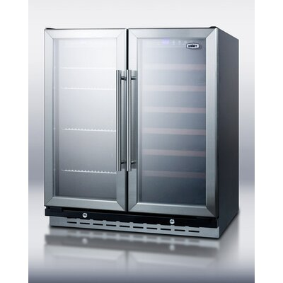 Summit Appliance Built-In Undercounter Dual Zone Wine and Beverage Cooler