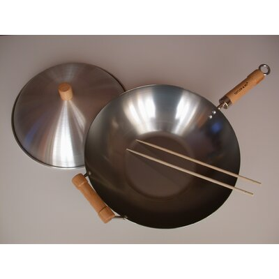 "Taylor & Ng 3 Piece 14"" Flat Bottom Wok Set"