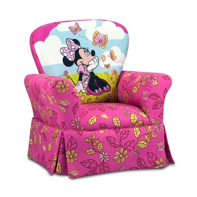 Disney Kids Minnie Mouse Cuddly Cuties Skirted Rocking Chair