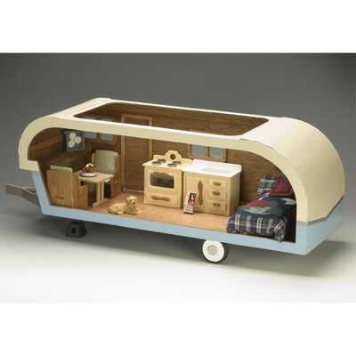 Greenleaf Dollhouses Vintage Travel Trailer Dollhouse Kit