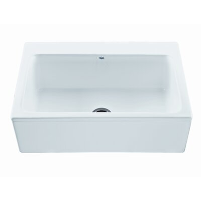 "Reliance Whirlpools Reliance 33"" x 22.25"" McCoy Single Bowl Kitchen Sink with Embossed Apron"