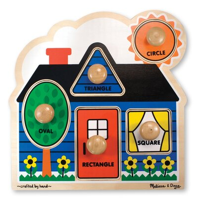 Melissa and Doug First Shapes Jumbo Wooden Knob Puzzle