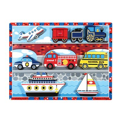 Vehicles Chunky Wooden Puzzle