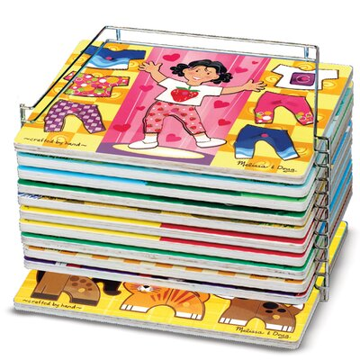 Melissa and Doug Single Wire Puzzle Storage Rack Unit