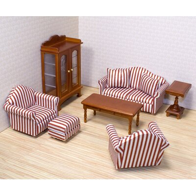Melissa and Doug Dollhouse Living Room Furniture