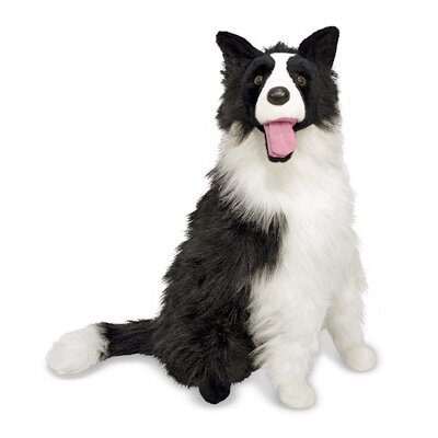 Melissa and Doug Plush Border Collie Stuffed Dog