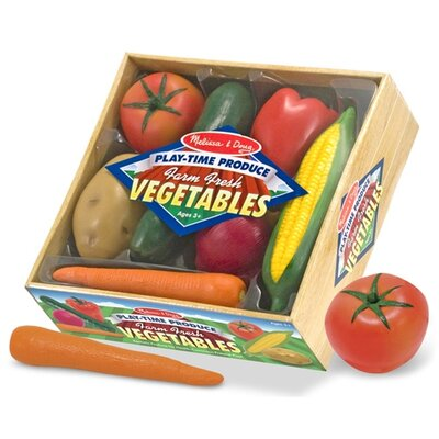 Melissa and Doug 7 Piece Play-Time Veggies Set