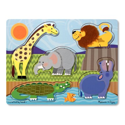 Melissa and Doug Zoo Animals Touch and Feel Puzzle