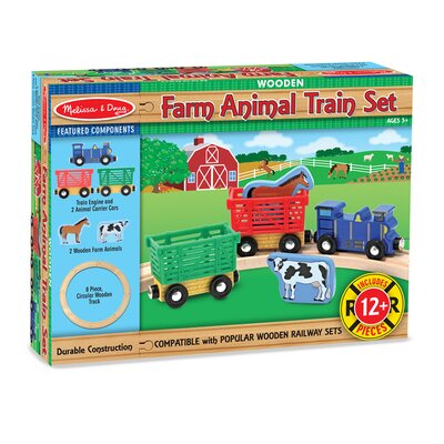 Melissa and Doug Farm Animal Train Set