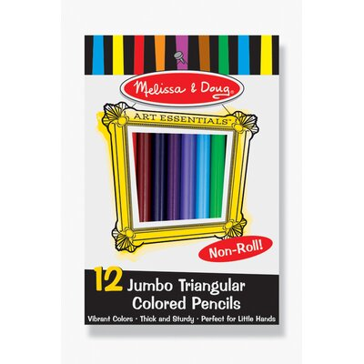 Melissa and Doug Jumbo Triangular Colored Pencils, 12 Pack