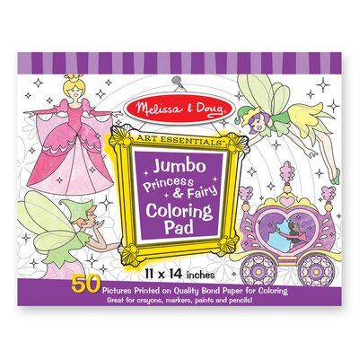 Melissa and Doug Jumbo Coloring Pad Princess and Fairy