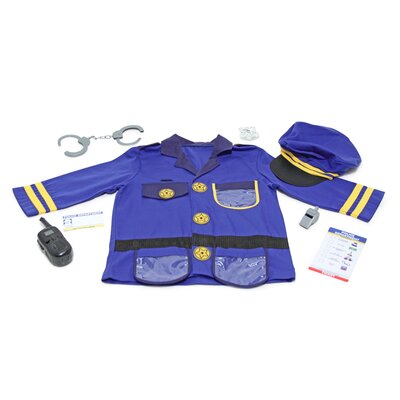Melissa and Doug Police Officer Role Play Costume Set