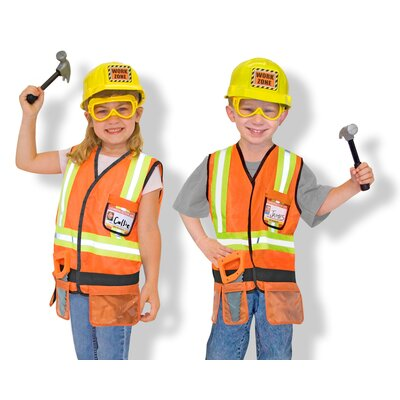 Melissa and Doug Construction Worker Role Play Costume Set