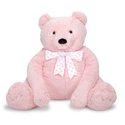 Melissa and Doug Jumbo Pink Teddy Bear