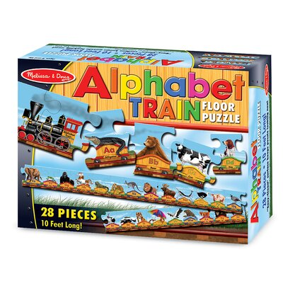 Melissa and Doug Alphabet Train  Puzzle (28 pcs)