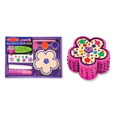 Melissa and Doug Decorate-Your-Own Wooden Flower Chest