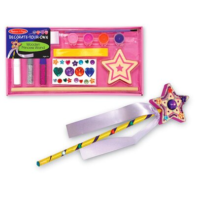 Melissa and Doug Decorate-Your-Own Wooden Princess Wand