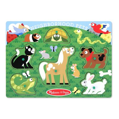 Melissa and Doug Neighborhood Pets Peg Puzzle