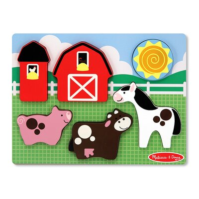 Melissa and Doug Chunky Scene Barnyard Fun Puzzle