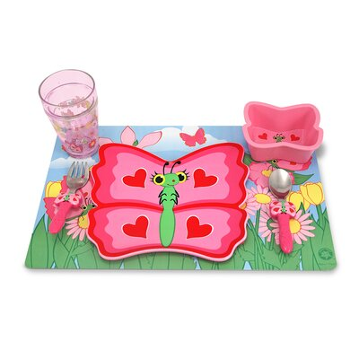 Melissa and Doug Bella Butterfly Mealtime Set