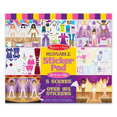 Melissa and Doug Dress-Up Reusable Sticker Pad