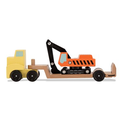 Melissa and Doug Trailer and Excavator