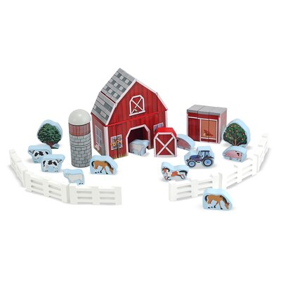 Melissa and Doug Farm Blocks Play Set