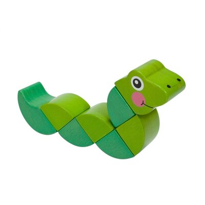 Melissa and Doug Wooden Wiggling Worm Grasping Baby Toy