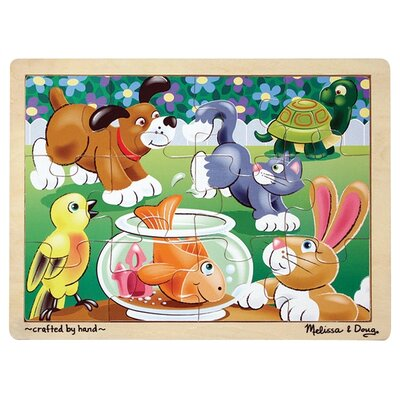 Playful Pets Wooden Jigsaw Puzzle