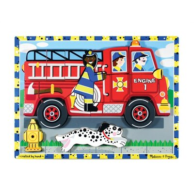 Melissa and Doug Fire Truck Chunky Wooden Puzzle