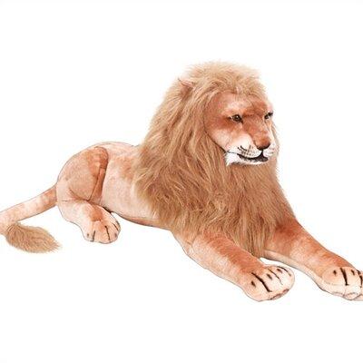 Large lion stuffed animal plush toy jpg