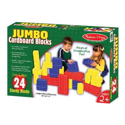 Melissa and Doug 24-pc Jumbo Cardboard Building Blocks
