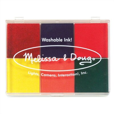 Melissa and Doug Rainbow Stamp Pad Arts & Crafts Kit