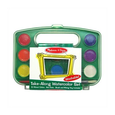 Melissa and Doug Take-Along Watercolor Set
