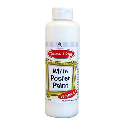 Melissa and Doug White Poster Paint Bottle