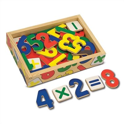 Magnetic Wooden Numbers in a Box